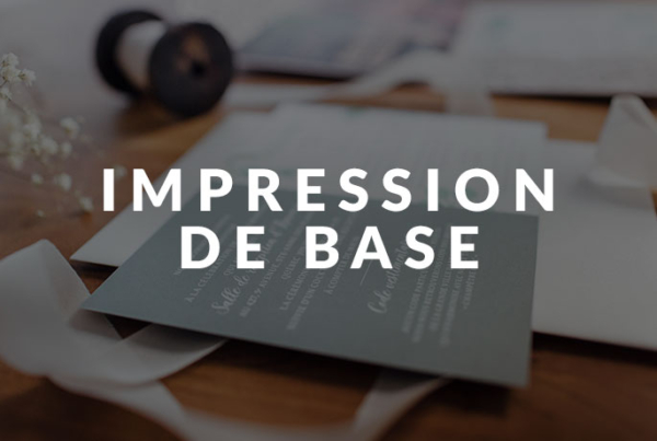 Impression de base - Faire-parts