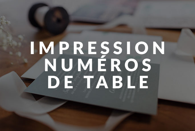 Impression - Numéros de table